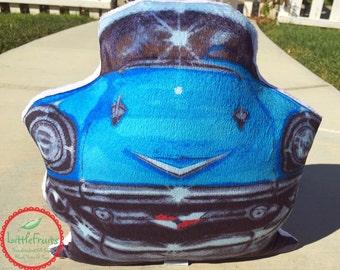 57 Chevy Car Plush Pillow - Chevrolet Bel Air 1957 Artwork Decorative Pillow - Cartoon 57 Chevy Plush - Kids Plus Car Toy - Classic Car