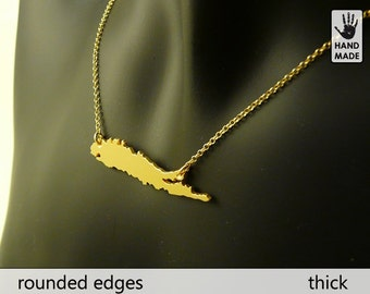 LONG ISLAND Handmade  Goldplated Sterling Silver .925 Necklace in a gift box