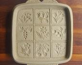 Vintage 1988 Brown Bag Cookie Art Cookie Mold