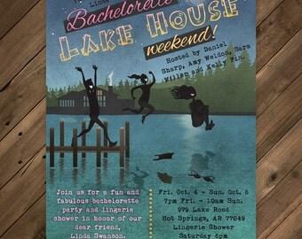 Lakehouse Invitation printable PDF