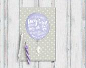 SWEET ADVENTURES INVITATION, Printable Bunny invitation, Balloon party invitations, Birthday Garden Party, Magical Typography Invitation