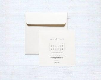 Printed Save the Date – Love Birds – Australia