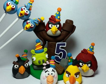 Angry bird birthday cake topper