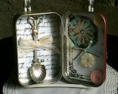 Upcycled Altoid Tin, Handmade, Collage, Embellishments, Mixed Media