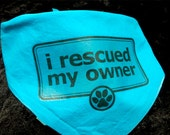 I rescued my owner blue dog bandana