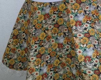 Floral Kitty Skirt