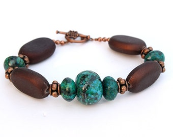 Her Brown and Turquoise Bracelet