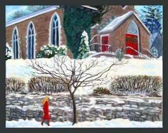 Dobbs Ferry: Church on Cedar Street by Ronnie Levine