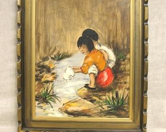 Child Portrait , Painting , Children , Van Lowe , Original , Young Children , Young Girl , Child Portraits , Fine Art , 16 x 20 , Framed