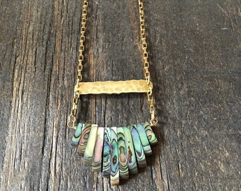 Abalone Shell Long Necklace