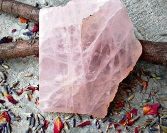 Rose Quartz Slab - Crystal - Gemstone - Stone - Rock - Specimen