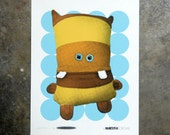 Monster Yellow - hand pulled screenprint poster