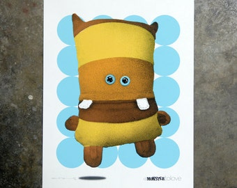 Monster Yellow - hand pulled screenprint