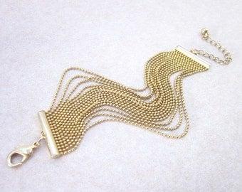 Ball Chain Bracelet -- Layered Gold Bracelet -- Dainty Gold Bracelet -- Small Chain Bracelet -- Gold Chain Bracelet -- Elegant Gold Bracelet