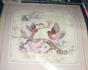 Birds Of Harmony - Crewel Embroidery Kit