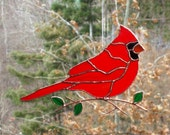 Cardinal - Stained Glass Bird Suncatcher - Large 121515