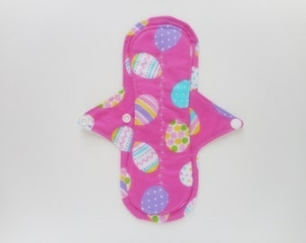 9.5 InchReusable Cloth Menstrual Pad,Incontinence Pad, Mama Cloth,Panty Liner,Light To Mod Absorbency Cotton Topped W/ PUL Backing