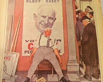 Norman Rockwell The Loser image 10 1/2 x 13 1/2 approx.
