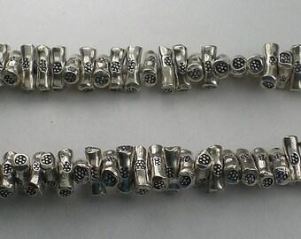 7mm Cylinder Bar Spacer Beads Karen Hill Tribe Fine Silver 20 pcs. HT-144