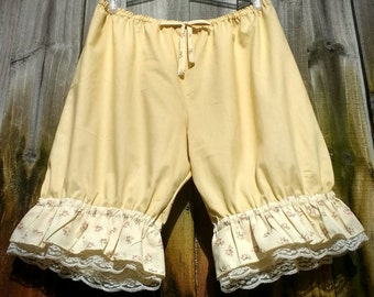 Butter yellow bloomers Knee Length Womens