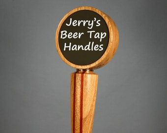 Chalkboard Beer Tap Handle - Made to Order - Solid Wood Tan Oak, Padauk, and Mahogany