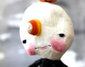 Ooak, Spun Cotton, Wendel, Candycorn, Boy, Halloween, Art, Figure