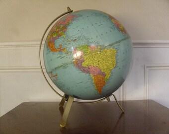 Vintage 1960's  Replogle World Globe