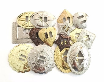 Conchos Grab Bag Mixed Sizes Slotted 25 pcs