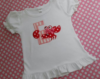 Personalized Girly Crab Shirt