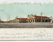 The Alverado Railroad Hotel Albuquerque New Mexico 1903 postcard