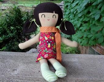 Daria // Handmade Doll // Girl Gift // Birthday Gift // Rag Doll // Nursery Decor // Girls Room Decor // Warm Sugar Doll