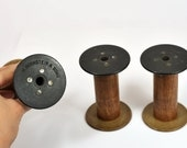3 Vintage Bobbins - Spools - BORNSTEIN & PASSAIC - Store your twines and ribbons with style or use for photoshoots - OOAK - S119