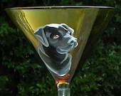 Black Lab Martini ~ Hand Painted Dog Martini ~ Dad Gift ~ Lab Owner Gift ~ Labrador Retriever