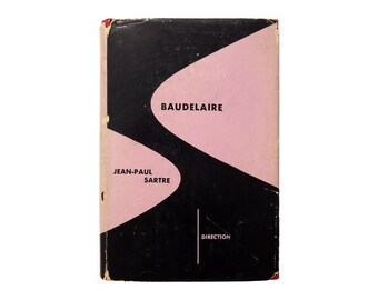 "Alvin Lustig book jacket design, 1950. ""Baudelaire"" by Jean-Paul Sartre [New Directions, Direction Series]"