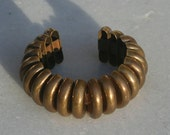 Vintage Brutalist Brass Bangle from the 60s or 70s