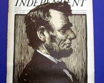 1927 Abe Lincoln The Dearborn Independent Magazine, President Abe Lincoln, Mr. Ford's Page, Civil War History, Civil War Letter,