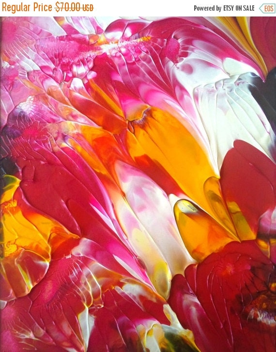 On Sale Summer Party Acrylic Abstract Painting By Rostudios