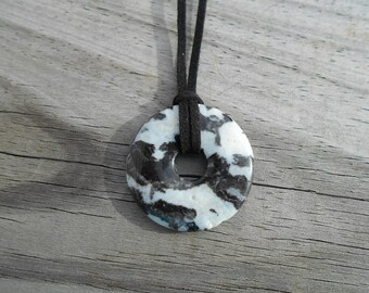 Zebra Jasper Donut Necklace