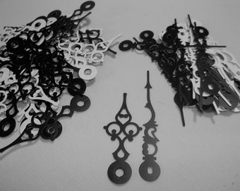 25 Pairs New Serpentine Black Hands (No6) For Scrapbooking, Steampunk, Embellishment