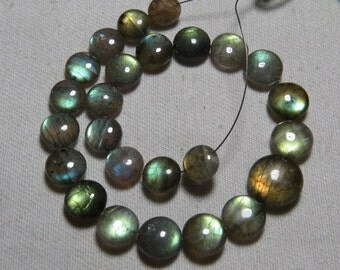 Labradorite - High Quality - AAAA - Smooth Polished Coin shape Briolletes so Amazing Gorgeous Multy Fire Huge size - 7 - 11 mm - 25 pcs