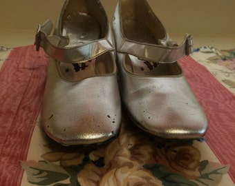 1960's Silver Fling Mary Jane Shoes