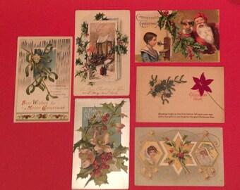 15 Antique Christmas Postcards