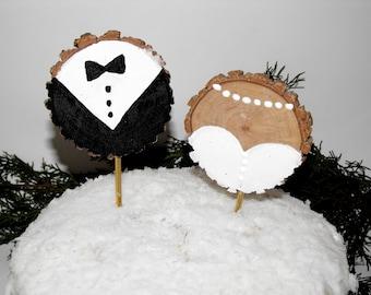 Mr & Mrs Wedding Cake topper ~ Rustic wedding decor ~ Forest wedding cake topper ~ rustic wedding ~ wood cake topper ~ wedding topper