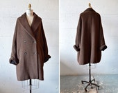 Vintage 1980s NIC JANIK designer ALPACA wool coat