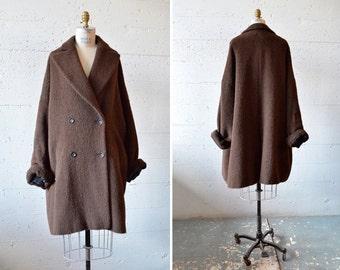 SALE / Vintage 1980s NIC JANIK designer alpaca wool coat