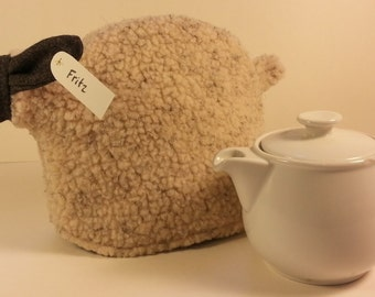 Sheep tea cozy, tea cosy: Fritz the tiny sheep cozy