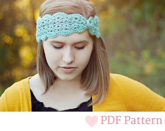 PDF, Turban Headband, Crochet Ear Warmer, Crochet Pattern, Turban Headband Pattern