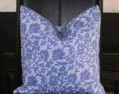 "SALE ~ Decorator Weight Periwinkle Accent Throw Pillow Cover Made to Fit an 18"" Pillow Form"