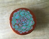 Succulent Gift Boxes - jewelry box, watercolor, wedding, bridesmaid gift box - send me a note for larger orders