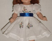 """Organdy Dress with Attached Slip and Panties for 20"""" Hard Plastic Raving Beauty Doll"""